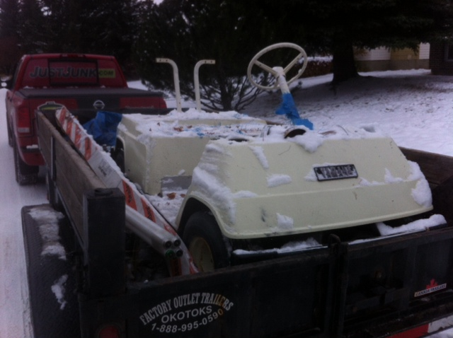 Golf Cart Removal Hauling from Just Junk