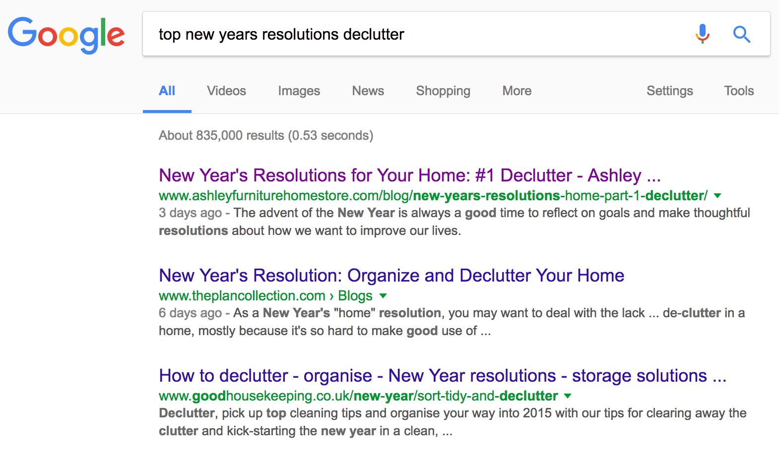 New Years Resolutions Decluttering